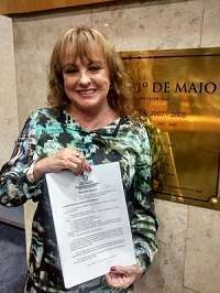 Vereadora Edir Sales, autora do Projeto de Lei