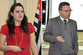 Dra. Danyelle Marini, diretora-tesoureira do CRF-SP e Dr. Marcos Machado, presidente do CRF-SP